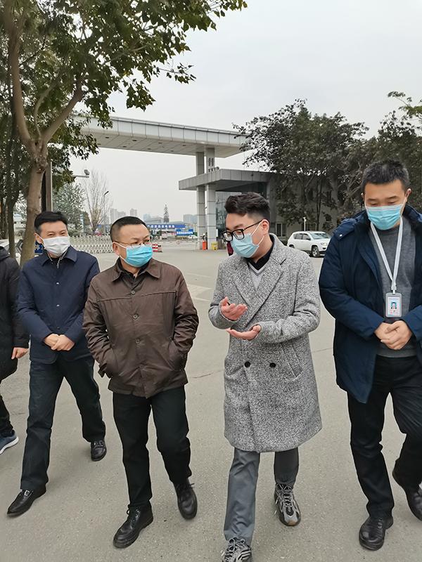 街道领导走访英亚国际娱乐集团并开展节前安全检查工作